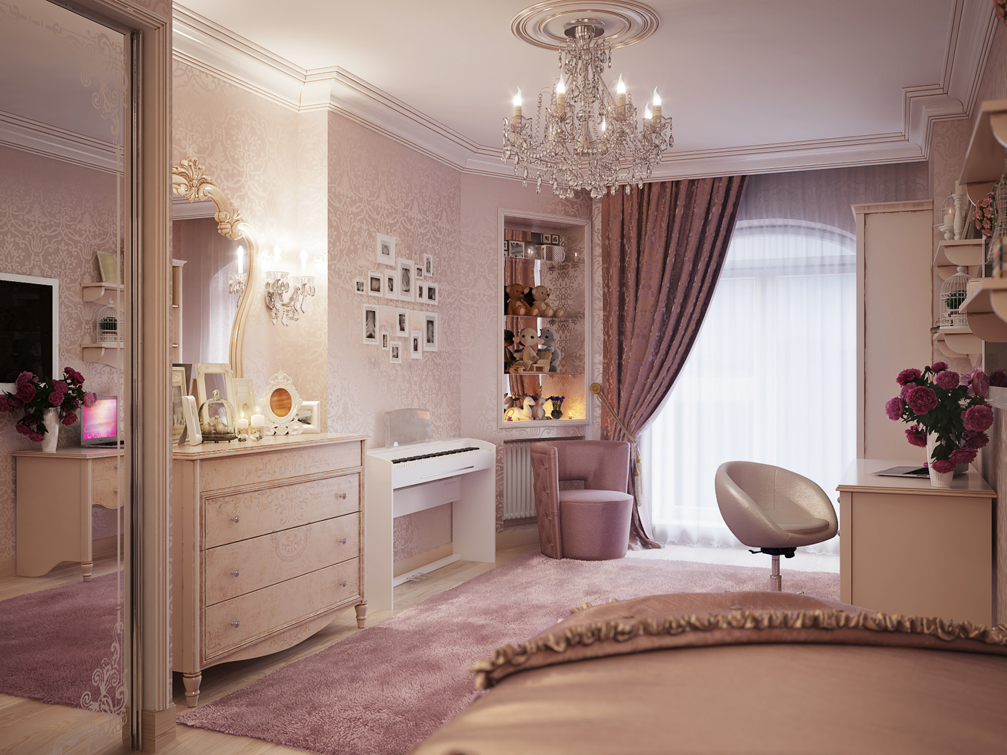 Fitted Wardrobes Ideas - White Wardrobe Design Bedroom Furniture Barnet, London, matching bedroom furniture set with mirrored wardrobes, chest of drawers dressing table and bedroom chair
