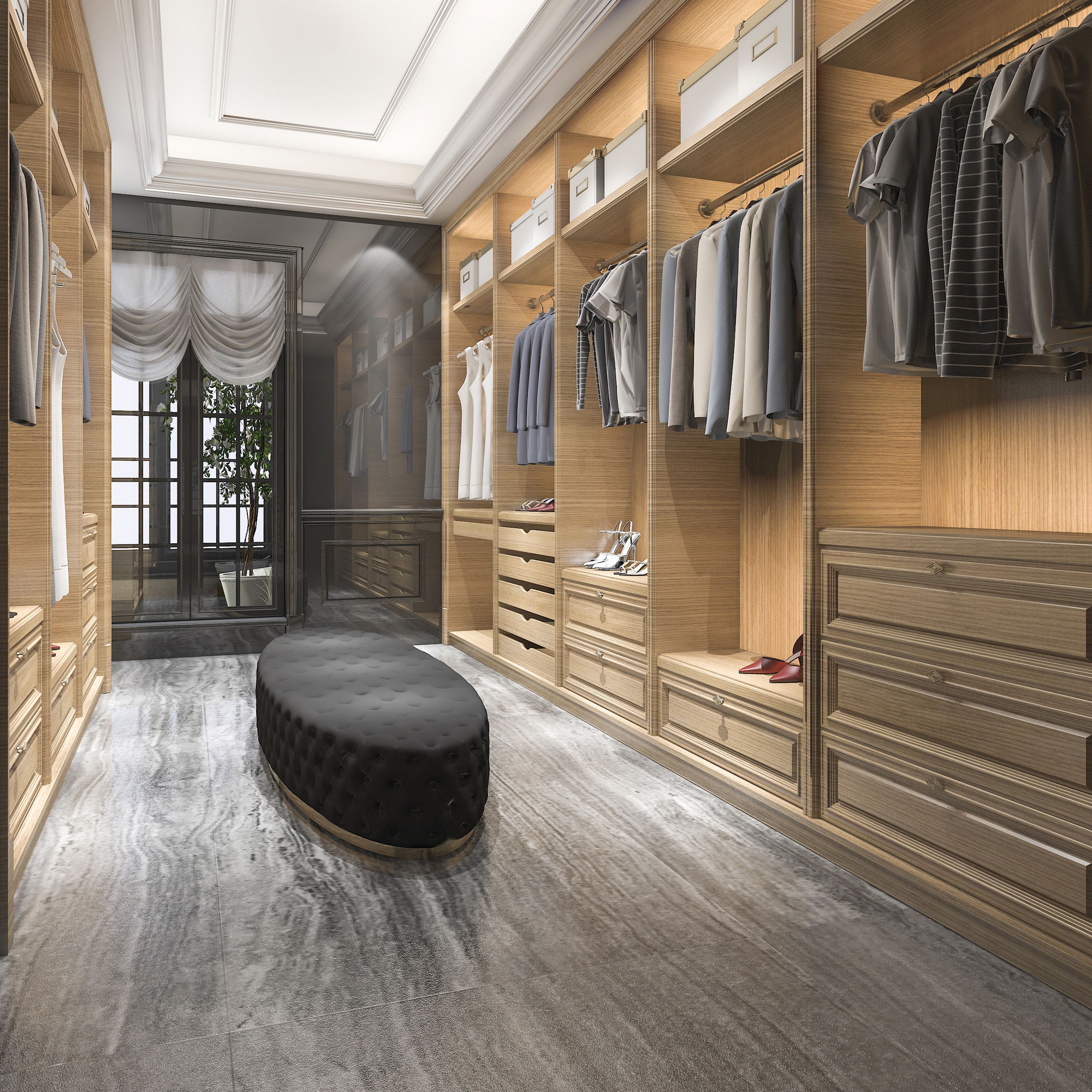 walk in wardrobe, bedroom furniture ideas, walk in closet