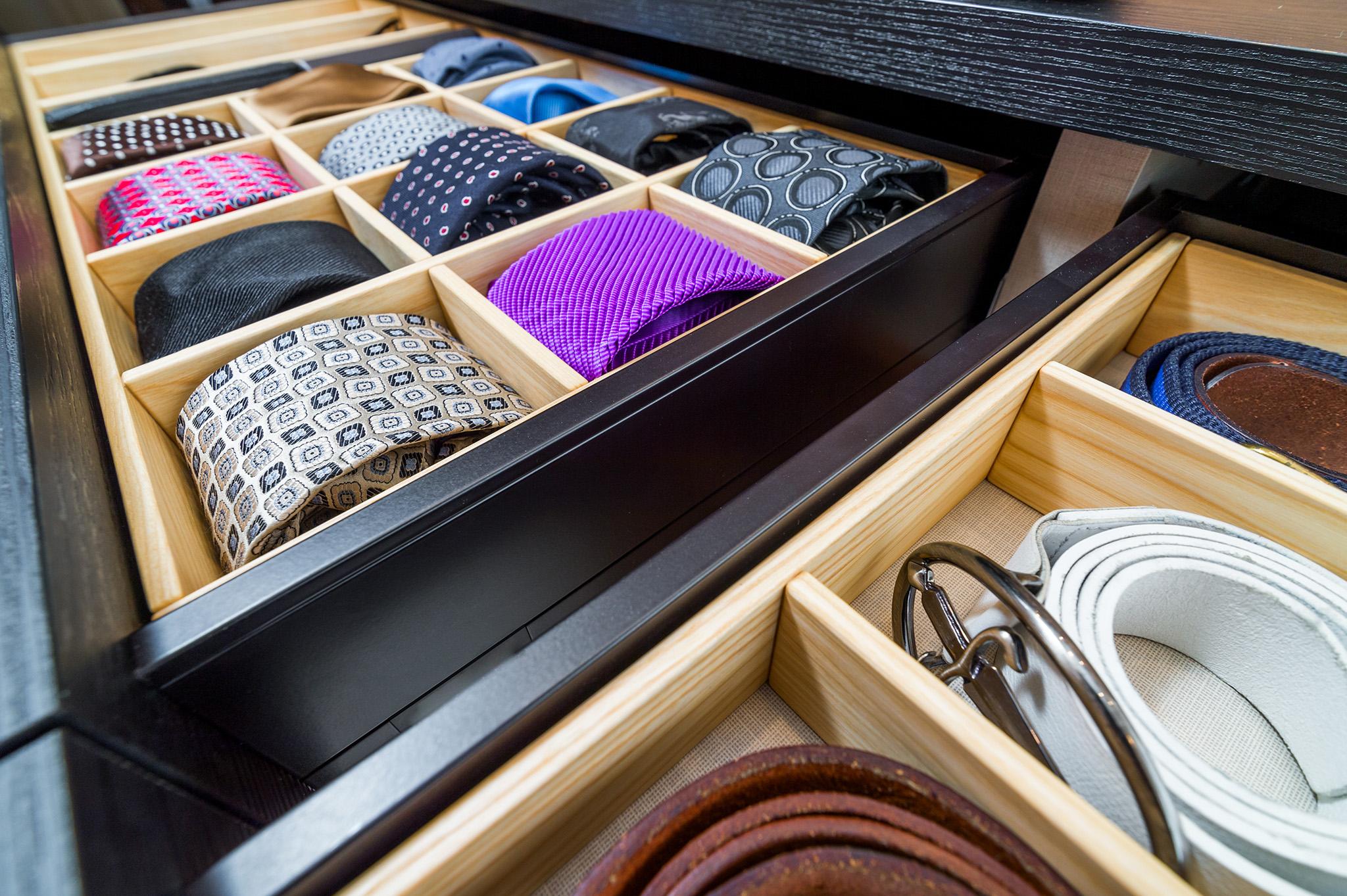 tie drawer, wardrobe internal drawer, fitted wardrobes