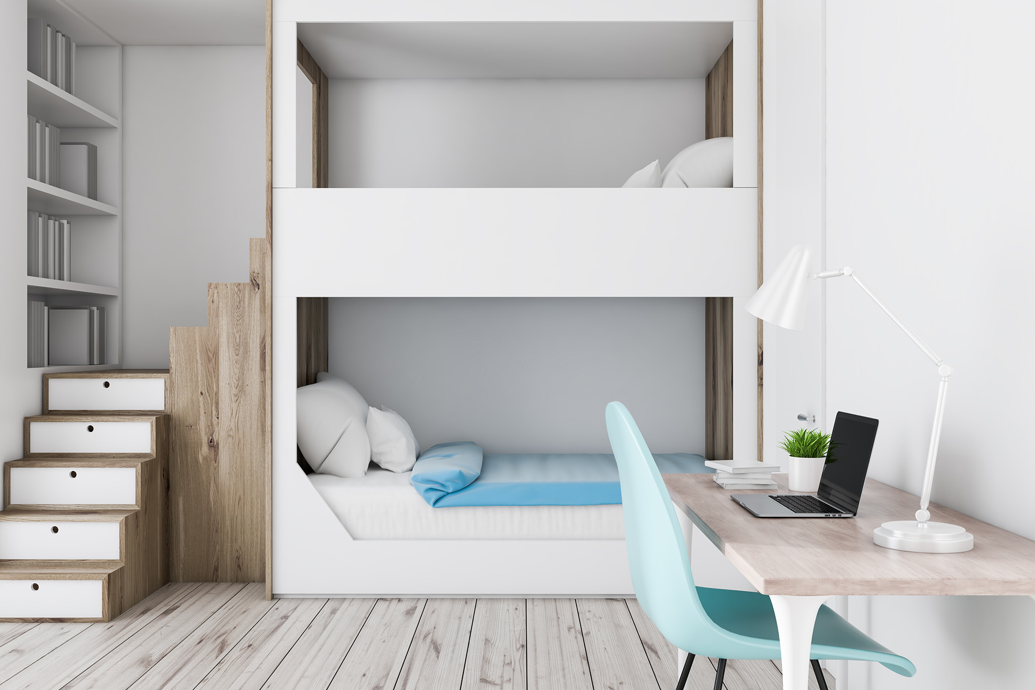 mid sleeper bed, small bedroom ideas, bespoke storage solutions