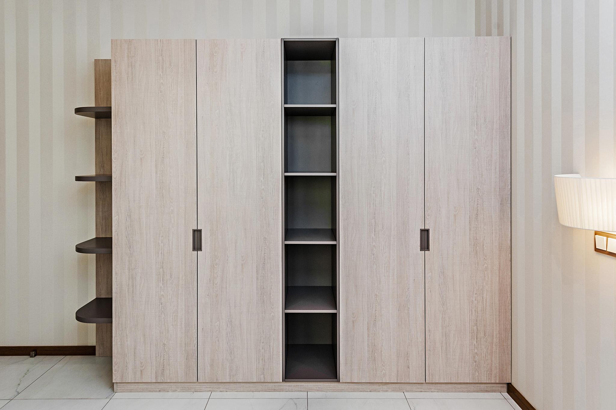 hinged wardrobe doors, four door wardrobe, open wardrobe ideas