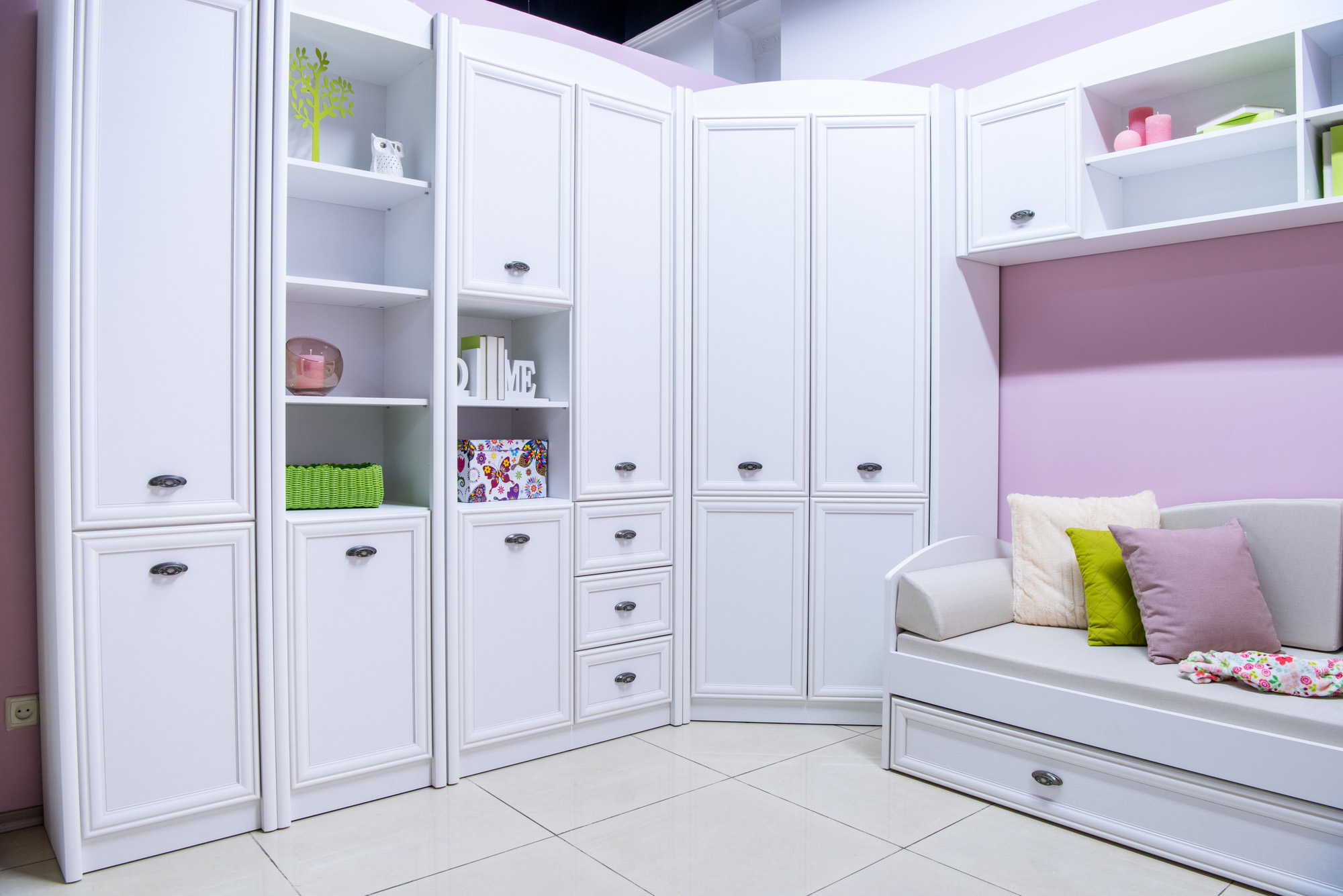 bedroom ideas for teenage girls, fitted wardrobes