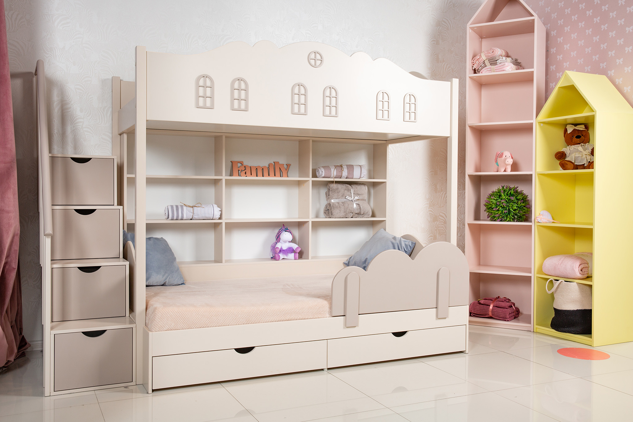 mid sleeper bed, bunk bed, childrens bedroom furniture