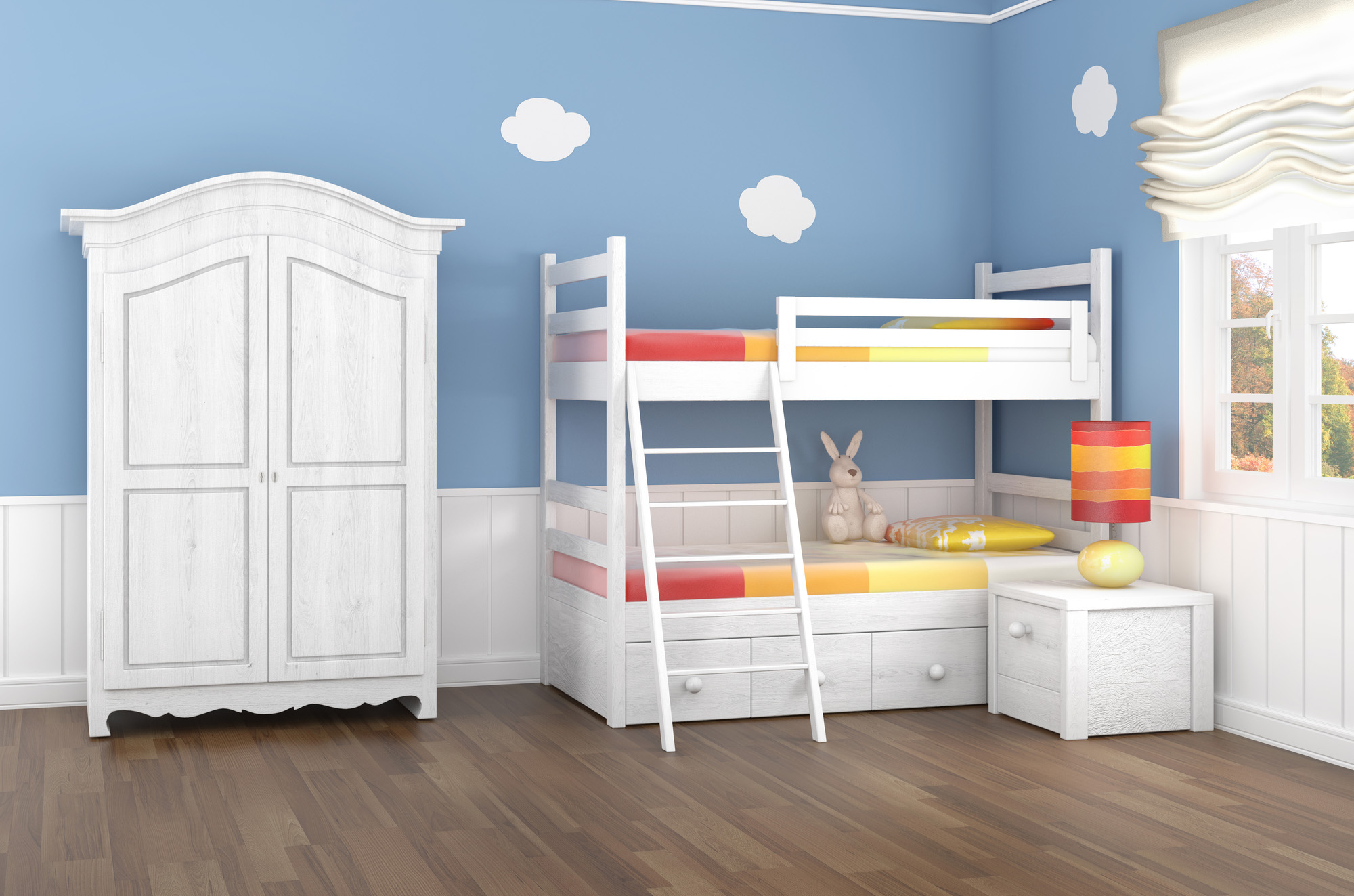 childrens wardrobe, mid sleeper