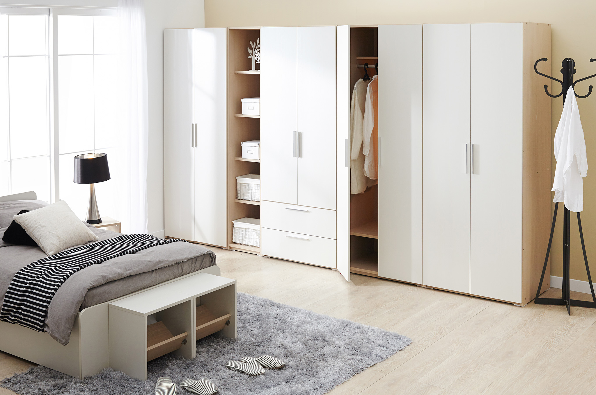 hinged wardrobe doors, wardrobe set, wardrobe with drawers