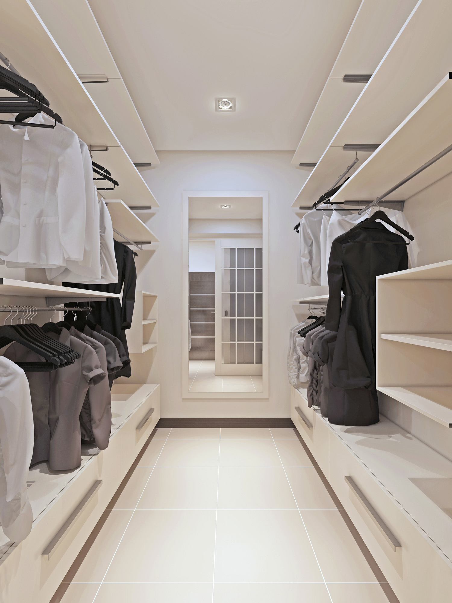 dressing room, walk in wardrobe, white wardrobe, open wardrobe ideas