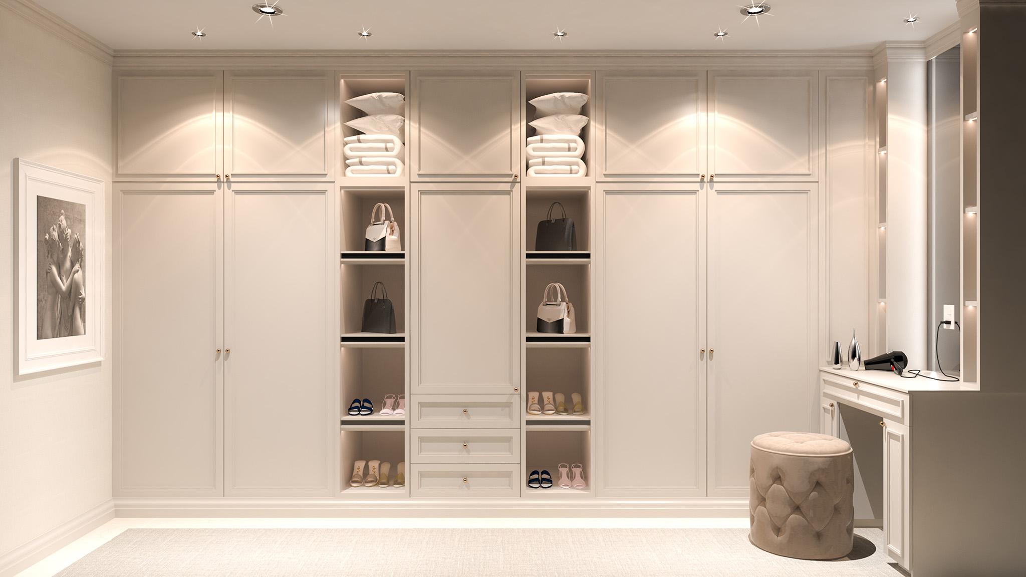fitted bespoke wardrobes, shaker wardrobe door, wardrobe drawers
