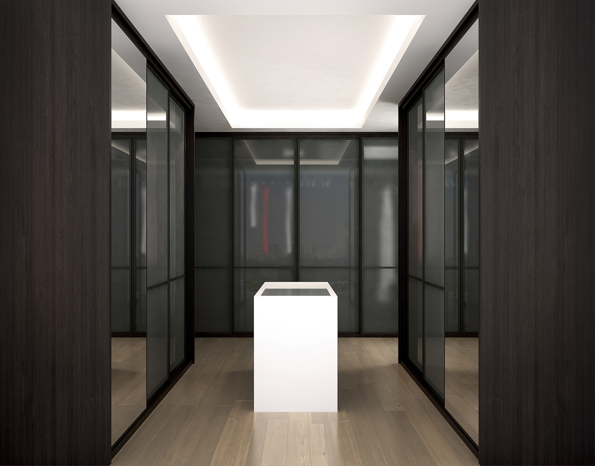 sliding mirrored wardrobes, fitted wardrobes, modern wardrobes, grey wardrobe doors