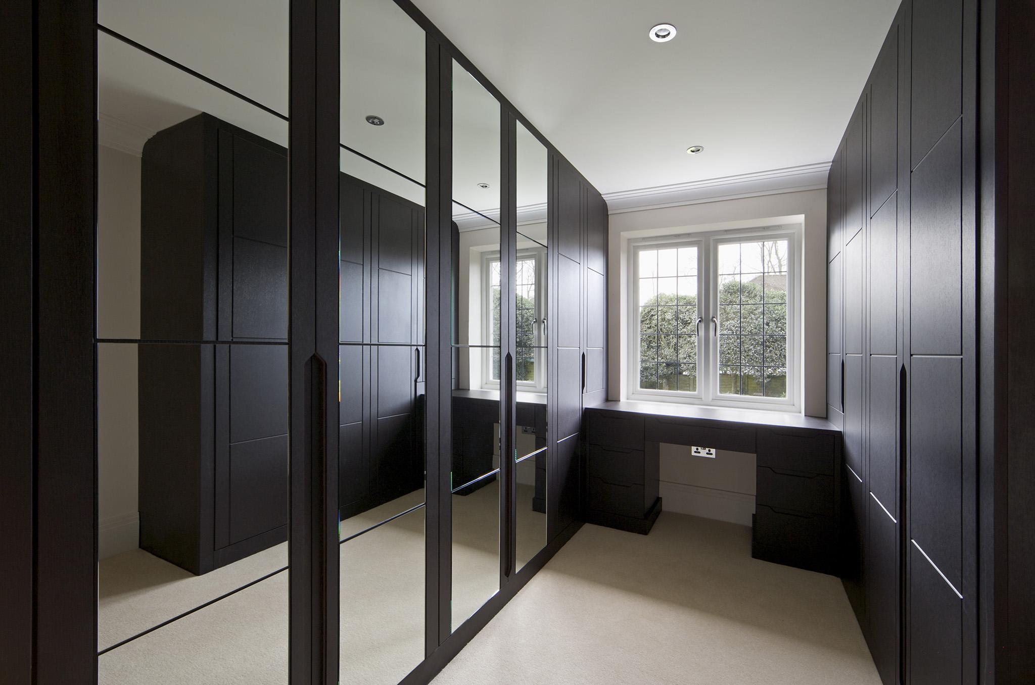 modern bedroom ideas, wardrobe black, dressing room