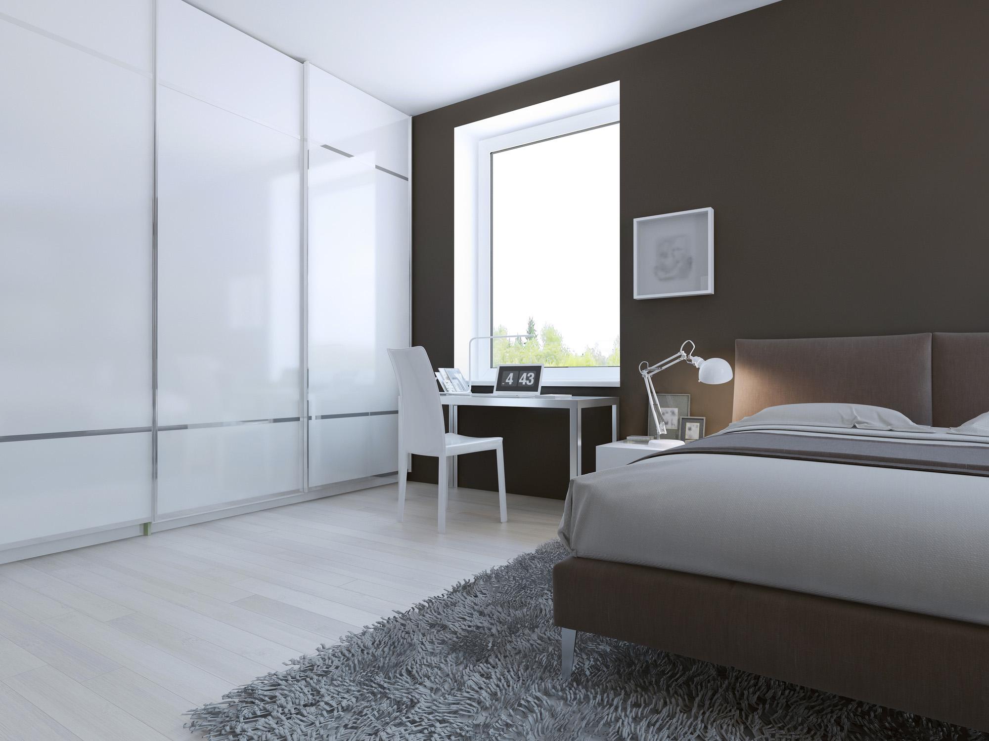 white sliding wardrobe, modern fitted wardrobe ideas