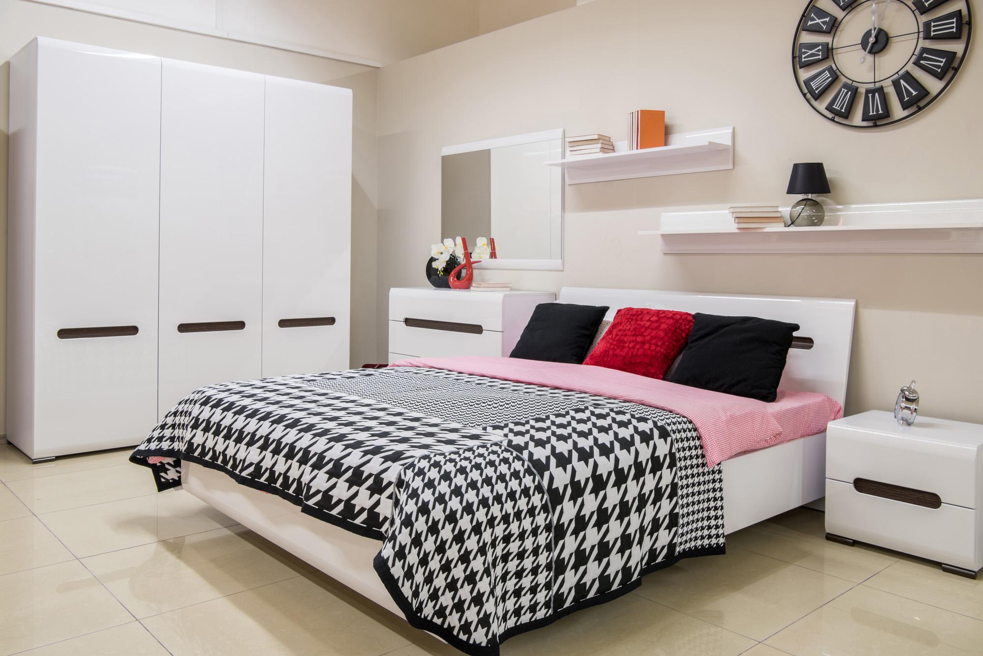 white modern wardrobe, three door wardrobe set
