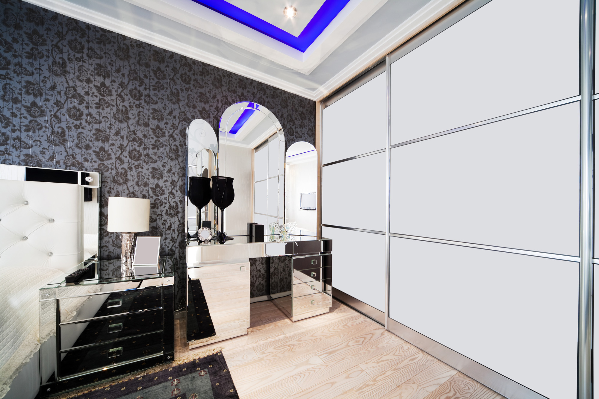 white sliding wardrobe, modern wardrobe ideas