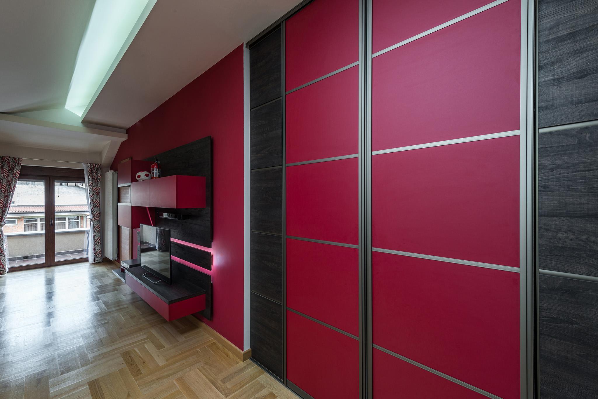 modern bedroom ideas, wardrobes with sliding doors, purple wardrobe designs