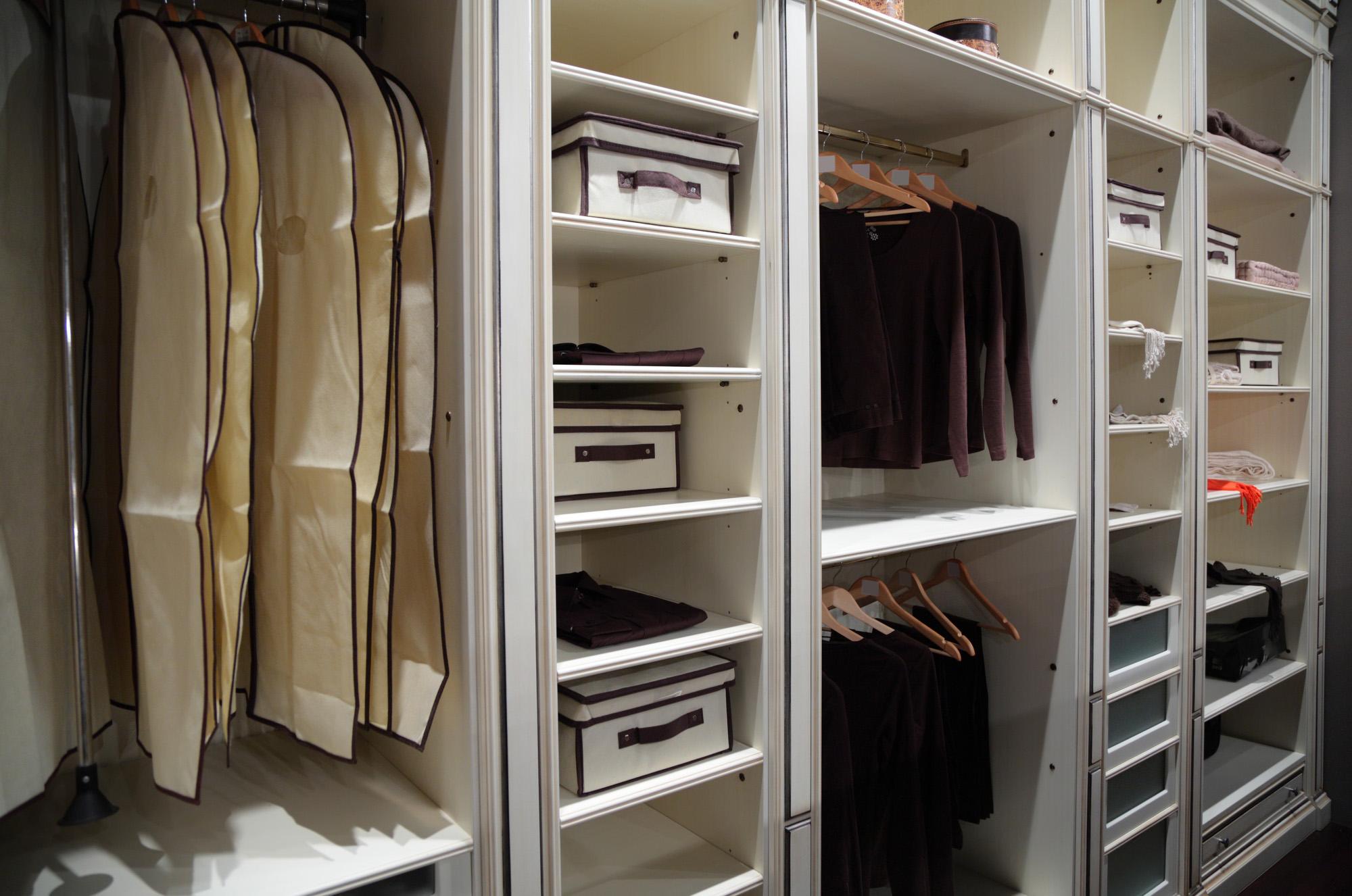 wardrobe open storage, white wardrobe, custom wardrobe design