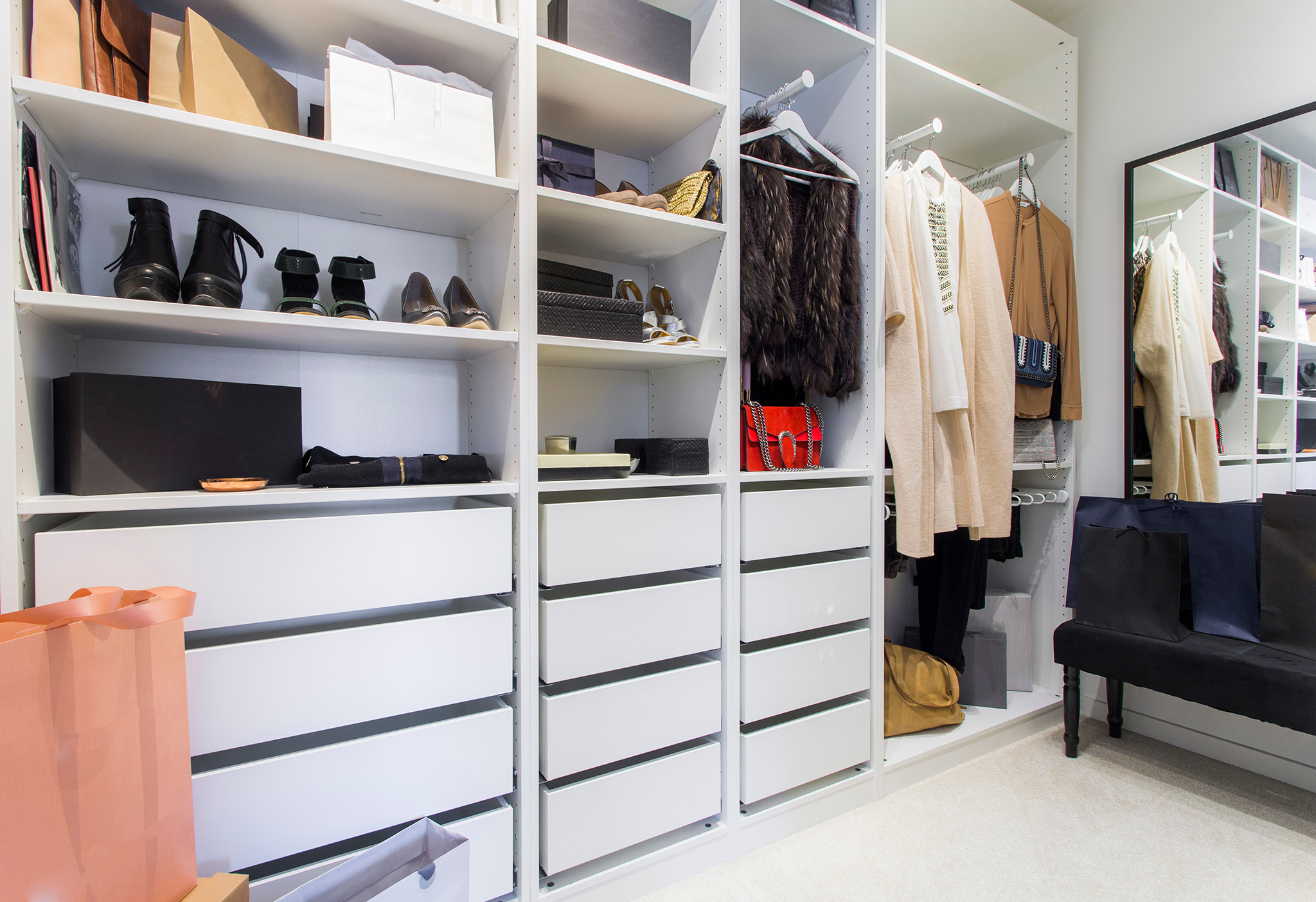 Fitted Wardrobes Ideas - White Wardrobe Design Walk In Wardrobe Design, Chelmsford