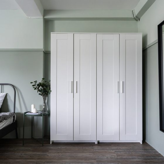 white wardrobes, four door wardrobe, freestanding wardrobe