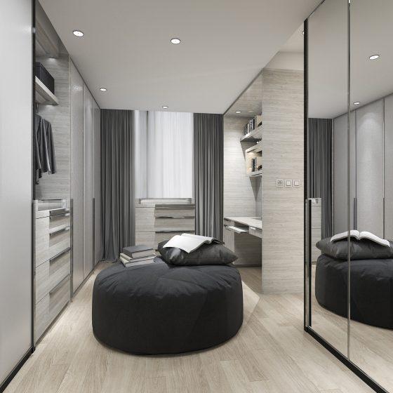 built in wardrobe ideas, mirrored wardrobe, walk in wardrobe