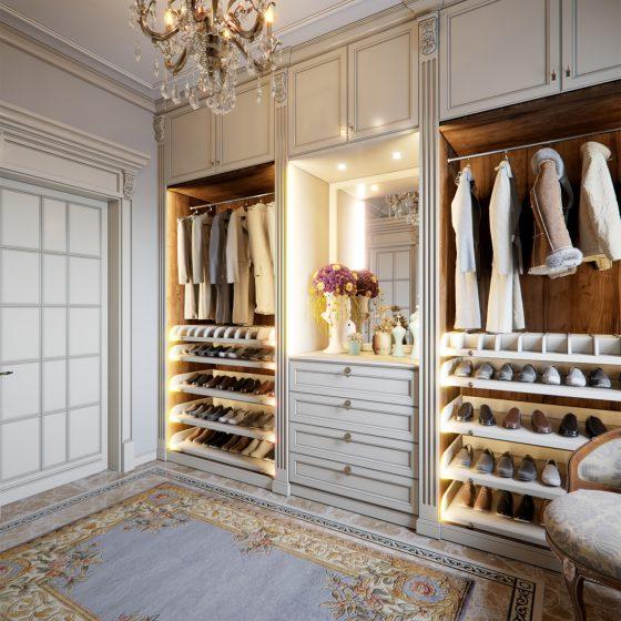 shoe storage cabinet, wardrobe lights, wardrobe drawers, walk in wardrobe